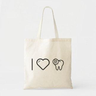 I protecciones del dentista del corazón bolsa tela barata