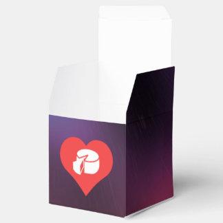 I prueba del queso del corazón cajas para regalos de boda