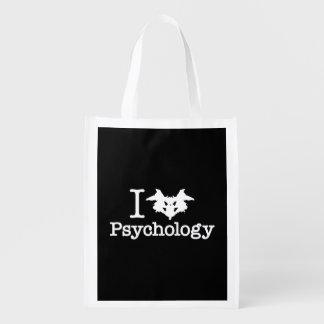 I psicología del corazón (mancha de tinta de bolsas para la compra