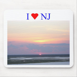 I puesta del sol del corazón NJ Tapetes De Raton