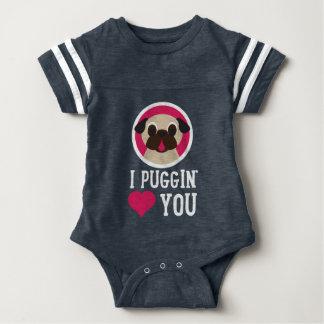 I Puggin Love You Baby Bodysuit