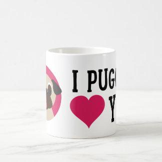 I Puggin' Love You Fawn Pug Mug