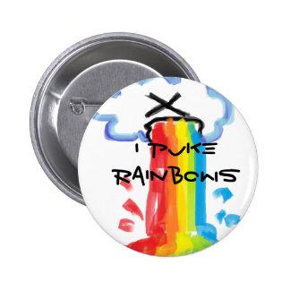 I Puke Rainbows Pin