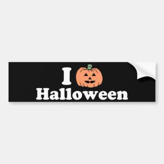 I Pumpkin Halloween Bumper Sticker