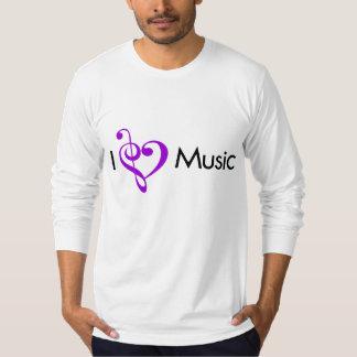 I púrpura de la música del corazón playera