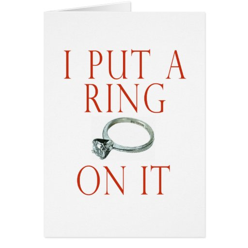 I Put a Ring on It Groom Engagement Cards