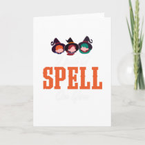 I Put A Spell On You Spooky Halloween Card