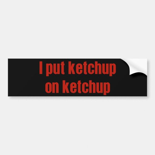 I Put Ketchup on Ketchup Car Bumper Sticker
