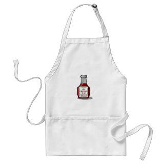 I put ketchup on my ketchup aprons