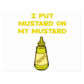 I Put Mustard on My Mustard Postcard
