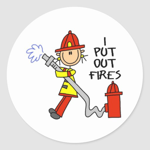 I Put Out Fires Stickers