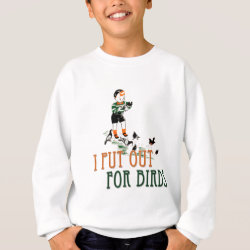 Kids' Hanes ComfortBlend® Sweatshirt with I Put Out For Birds (boy) design