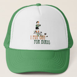 Trucker Hat with I Put Out For Birds (boy) design