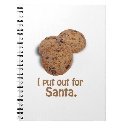 I put out for Santa -.png Spiral Notebook