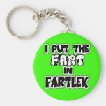 I put the fart in fartlek basic round button keychain