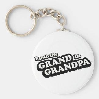 I Put The Grand In Grandpa Keychain