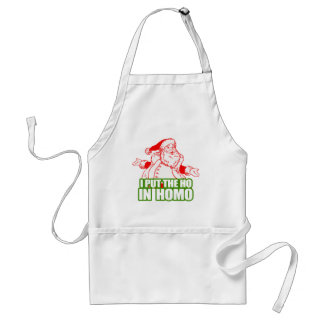 I PUT THE HO IN HOMO -.png Adult Apron