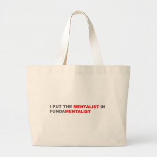 I Put The Mentalist In Fundamentalist Canvas Bag