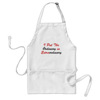 I Put The Ordinary In Extraordinary Adult Apron
