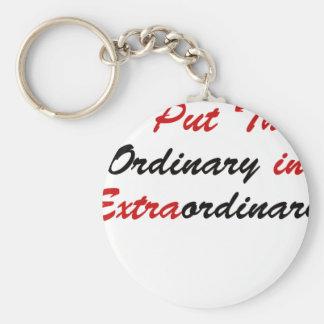 I Put The Ordinary In Extraordinary Keychain