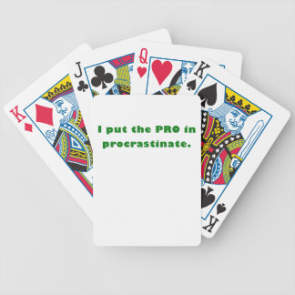 I put the Pro in Procrastinate Poker Deck