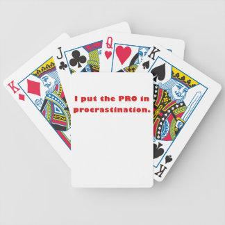 I Put the Pro in Procrastination Card Decks