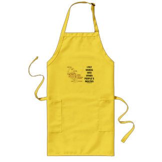 I Put Words Into Other People's Mouths (Anatomy) Long Apron