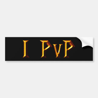 I PvP Bumper Sticker