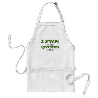 I Pwn en el delantal de la cocina