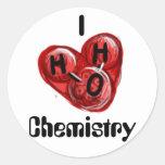 I química de H2O Pegatina Redonda