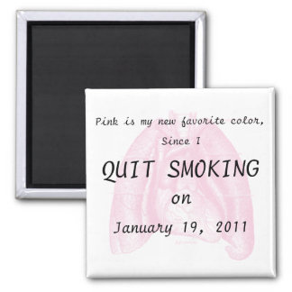 I quit smoking 2 inch square magnet