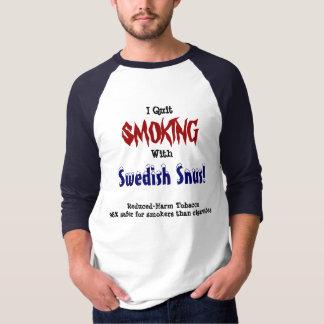 I Quit Smoking with Swedish Snus T-Shirt