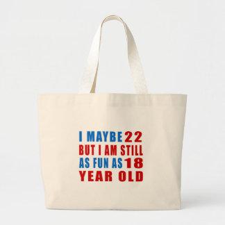 I quizá 22 diseños del cumpleaños bolsa tela grande