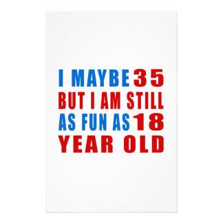 I quizá 35 diseños del cumpleaños papelería