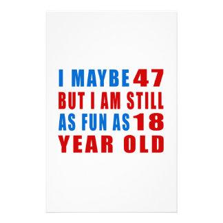 I quizá 47 diseños del cumpleaños papeleria