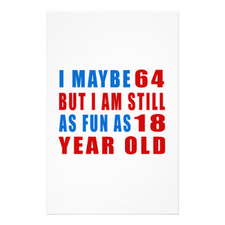 I quizá 64 diseños del cumpleaños papelería de diseño