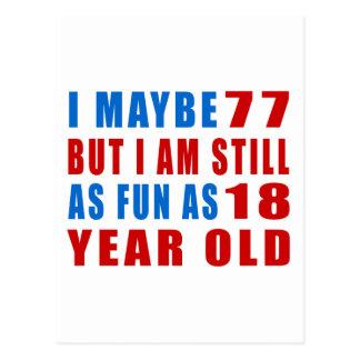 I quizá 77 diseños del cumpleaños tarjeta postal