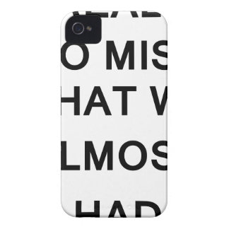 i raelly do miss what we almost had iPhone 4 cover