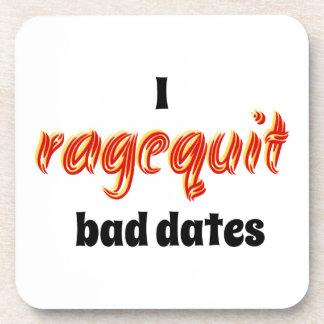 I Ragequit Bad Dates Coasters