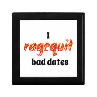 I Ragequit Bad Dates Keepsake Boxes