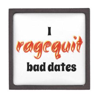 I Ragequit Bad Dates Premium Jewelry Boxes