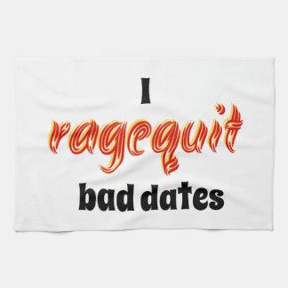 I Ragequit Bad Dates Towel