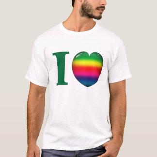 I Rainbow Heart Love T-Shirt