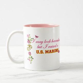 I Raised A Marine (EGA) Two-Tone Coffee Mug
