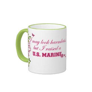 I Raised A Marine Ringer Coffee Mug