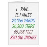 I Ran 13.1 Miles Card