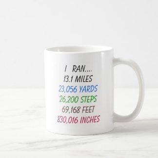 I Ran 13.1 Miles Classic White Coffee Mug