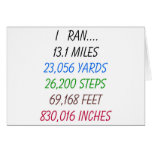 I Ran 13.1 Miles Greeting Card