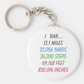 I Ran 13.1 Miles Basic Round Button Keychain