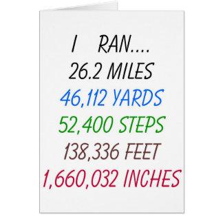 I Ran 26 2 miles Card